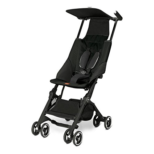 GB Gold Pockit Pushchair, Monument Black