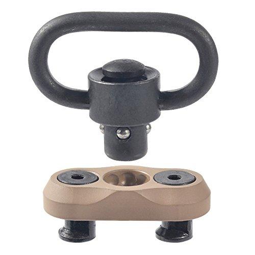 JIALITTE Keymod Sling Mount Push Button QD Sling Swivel 1.25-inch with Keymod Adaptor Base