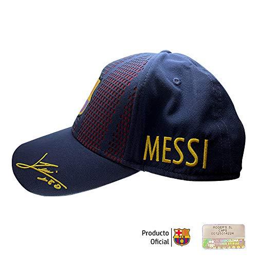 Gorra FC. Barcelona - Producto Oficial Licenciado - Player Messi-18 - Talla Adulto ajustable