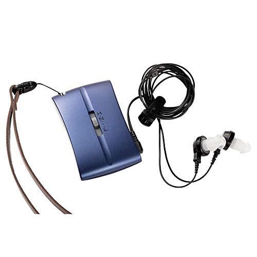 アイシンヘルスケア SENTI(センティ) プレゼント おしゃれな 補聴器 両耳装用 ポケット型 ポッケ sel1 箱型補聴器 HC-001 (ミッドナイトブルー)