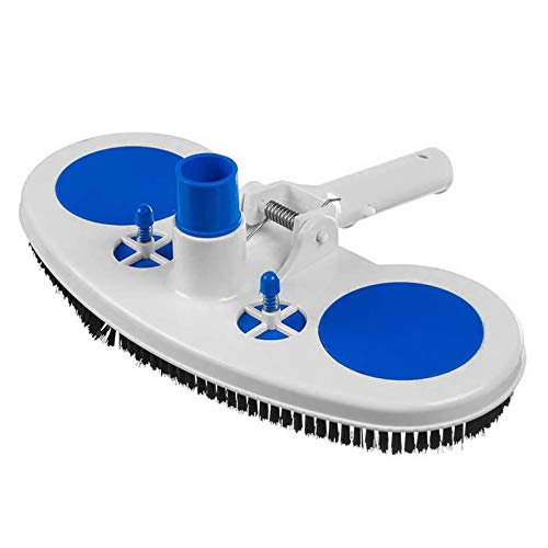 13 Inch Pool Vacuum Head, Wide Curved Pool Spa Vacuum Head for Inground Above Ground Pools, Butterfly Vac Cleaner Best for Vinyl Pools