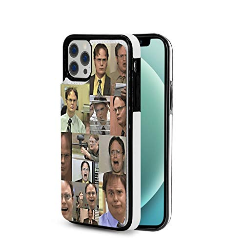 Case Compatible with IP12 Pro-6.1 Inch The Office Tv Show Dunder Mifflin PU Leather Folio Flip Stand Wallet Case Cover with Slots Shockproof Protective Phonecase