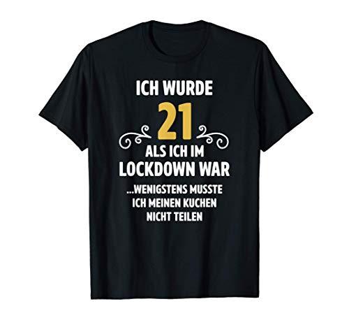 21 Geburtstag Shirt Männer Frauen Lockdown Geschenke T-Shirt