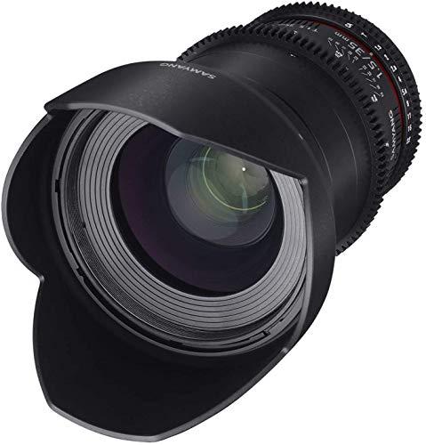 Samyang Obiettivo V-DSLR 35mm/T1,5 AS UMC II per Canon, Nero