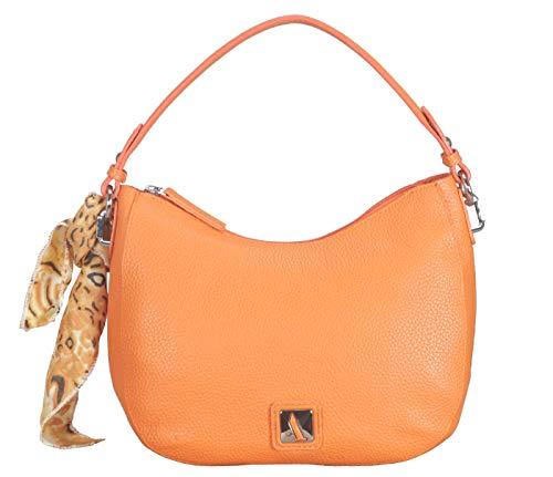 Adamis Leather Shoulder Cum Sling Handbag B834 Orange