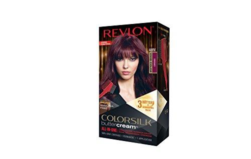 Revlon Colorsilk All-in-one Buttercream Luxus-Haarfarbe Nr. 48BV Lebendiges Dunkel-Burgunderrot - Tolle Farbe super Deckkraft und Pflege. Coloration