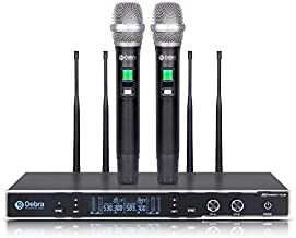 D Debra Audio New Model Top Quality TD-220, Clean Sound for Singing Stage!!! Professional UHF True Diversity 2 Channel Wireless Microphones System with 2 Cordless Handheld Mic