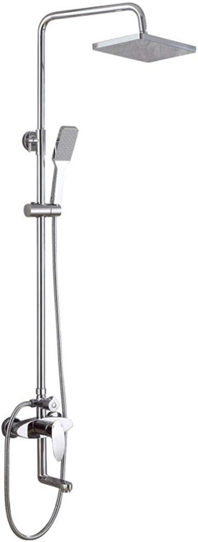 GZF mischbatterie für Dusche,Dusch-Set, Wand-DREI-Gang-Warm-und Kaltwasserdusche, Kupfer, Duschkopf, Sanitrkeramik
