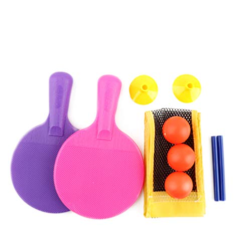 NUOBESTY Tragbares Tischtennis-Spielset Mini-Tischtennis-Tischspiel mit Netz 2 Paddel 3 Bälle für Kinder Indoor Outdoor Tabletop Reisespiel Alternative zu Tischtennisplatten
