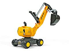 With realistic digging mechanism that can be used on sand and earth Can rotate through 360 degrees 4 large stable wheels With locking arm Dimensions of item: 102 x 43 x 74 cm