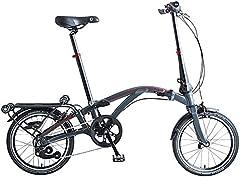 Dahon Curl i4, Bicicleta Plegable Unisex Adulto, Antracita, 16 Pulgadas