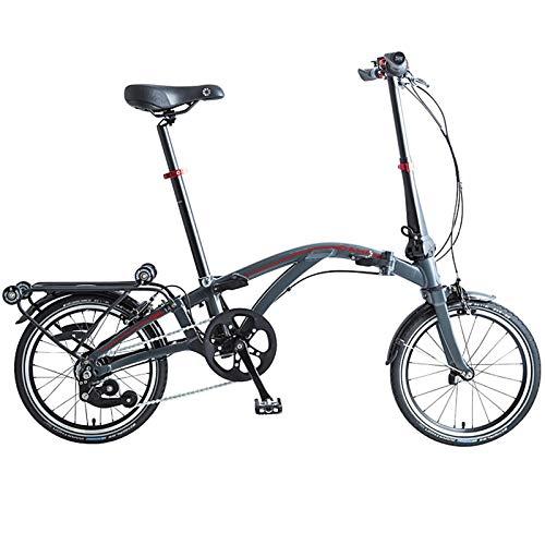 Dahon Curl i4, Bicicletta Pieghevole Unisex Adulto, Antracite, 16'