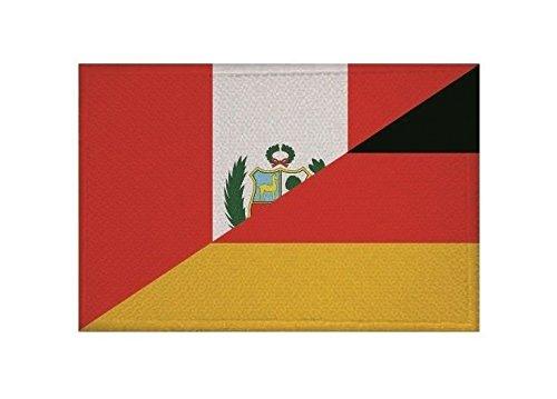 U24 Aufnäher Peru-Deutschland Fahne Flagge Aufbügler Patch 9 x 6 cm