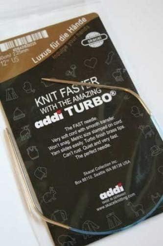 Addi Turbo Circular Knitting Max 76% OFF Same day shipping Needles Size SKACEL 12