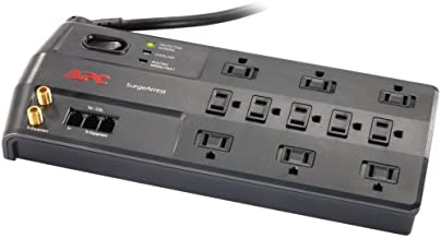 APC Surge Protector with Telephone, DSL and Coaxial Protection, P11VT3, 3020 Joules, 11 Outlet Surge Protector Power Strip Gray