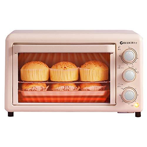 Mini tostadora de sobremesa de 19L Horno arriba y abajo Cuatro tubos Operación de la perilla de calentamiento independiente Incluyendo la bandeja de hornear Bandeja de la red de horneado Abrazadera
