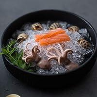 麺磁器ボウル朝食パスタサラダデザートシリアルボウル7インチ (Color : BLACK)