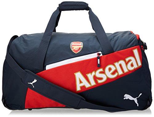 Puma, Borsone sportivo Arsenal, Nero (Black Iris/High Risk Red/White), 63 x 33 x 26 cm, 54 litri