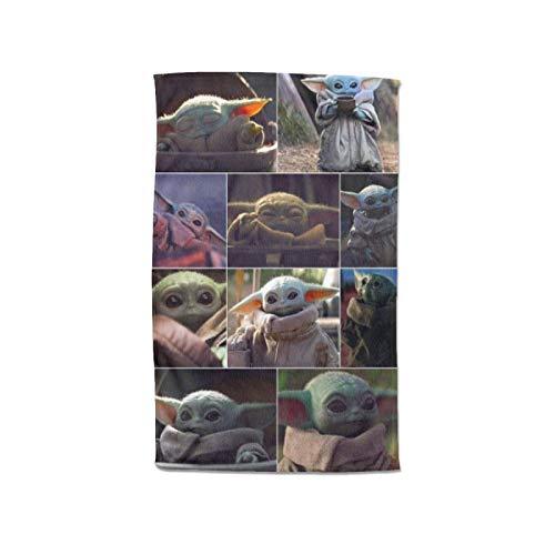 Large Puzzle Baby Yoda - Toallas de algodón de bambú para mujer, envolturas de spa con cierre y bolsillo, bata de baño y toalla de ducha