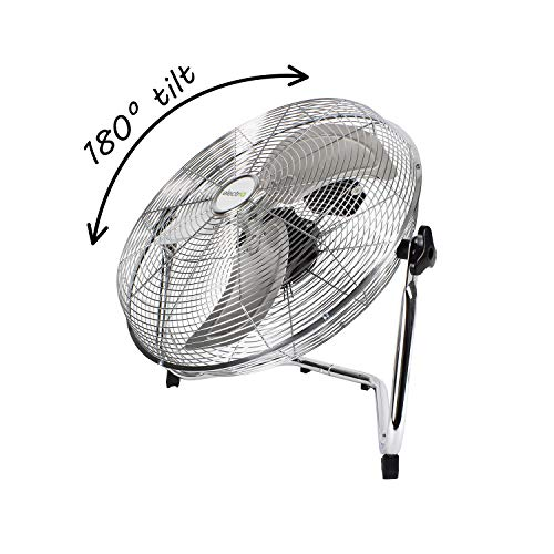 electriQ 18' Chrome High Velocity Floor Fan