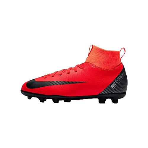 Botas de fútbol NIKE JR Superfly 6 Club CR7 FG/MG Junior (AJ3115 600) (33 EU, Rojo)