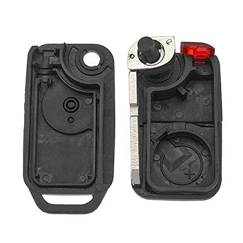 JIAYIN Toto Department Store Key Black Shell Flip Remote Fit para Mercedes Benz Fit para Mercedes Reemplazar el reemplazo