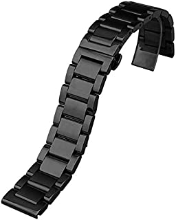 For Samsung Gear S2 Classis SM-R732 - Replacement Stainless Steel Smart Watchband - Black