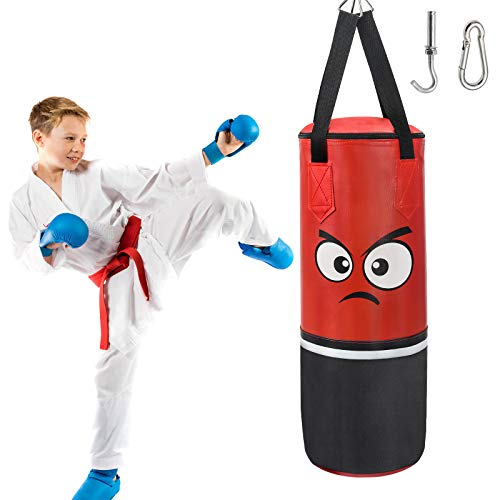Kids Punching Bag for Kids - UNFILLED Boxing Heavy Punching Bag for MMA, Karate, Taekwondo and Kickboxing Training & Stress Relief, Boxing Toys Gifts for Age 3-12 Old Boys Girls