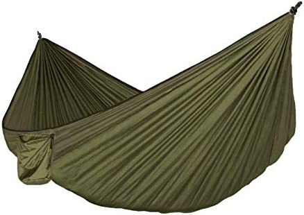 Petrichor Premium Outdoor Camping Indoor Nylon Ripstop with Zipper Hammock Size Double Olive product image