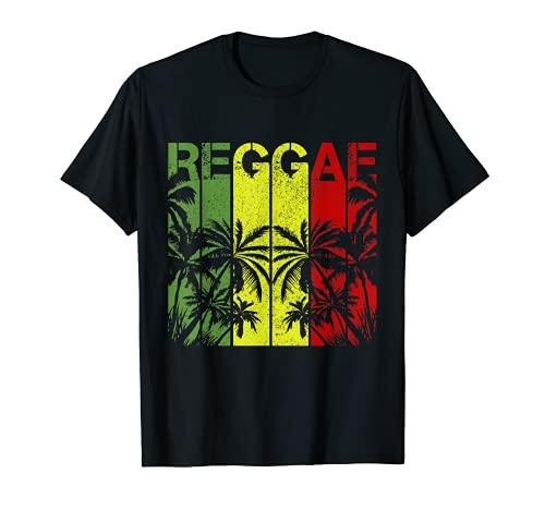Herren Reggae Jamaika Rastafari Rasta Musik Dub T-Shirt
