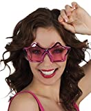 TH-MP Sternbrille Partybrille Unisex Sonnenbrille pink metallic Party Outfit Kostüm Zubehör...