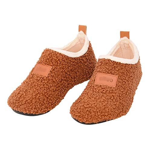 BBGS Zapatillas Calcetines Del Piso, Calcetines de Los Niños Antideslizantes Inferiores Suaves Del Calcetín Espesan Los Calcetines Zapatos de Las Señoras Adultas Gracioso Agosto Térmica Escotado Salón