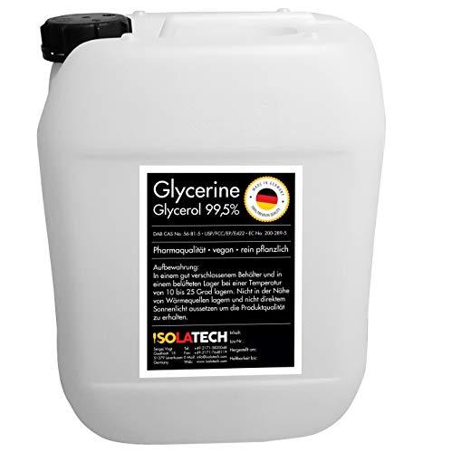 Glycérine 99,5% qualité pharmaceutique légume pur, végétalien, glycérine glycérol liquide transparent boîte Bidon de 10L (contenu 12kg)