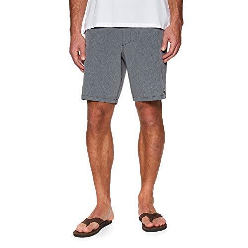 O'NEILL Pantalones Cortos Híbridos Chino para Hombre De Bar A Playa, Gris A Escala/Azul Medio