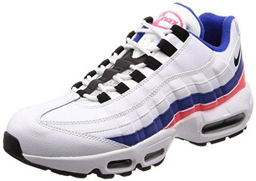 Nike Air MAX 95 Essential, Zapatillas de Gimnasia Hombre, Multicolor (White/Black/Solar Red/Ultramar 106), 38.5 EU