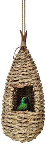 YEES Tuinoverdracht vogelnest kolibrie huis handgeweven kolibrie huis tuinoverdracht vogelnest serviceable