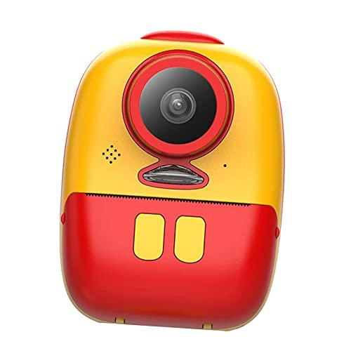 IPOTCH mini kinderen kinderen selfie inkt instant print camera speelgoed 2 inch display voor reizen leren – rood geel