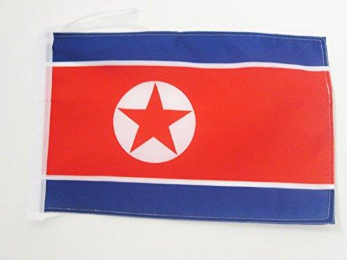 AZ FLAG Flagge NORDKOREA 45x30cm mit Kordel - NORDKOREANISCHE Fahne 30 x 45 cm - flaggen Top Qualität