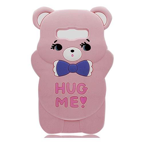YuanYuZhongPhoneSky Samsung Galaxy J5 2016 J510 Custodia, TPU Nuovo designato Case Cartoon Cover Skin Shell Antiurto Samsung Galaxy J5 2016 J510 Copertura - 3D Cartoon Orso Bowknot Bear