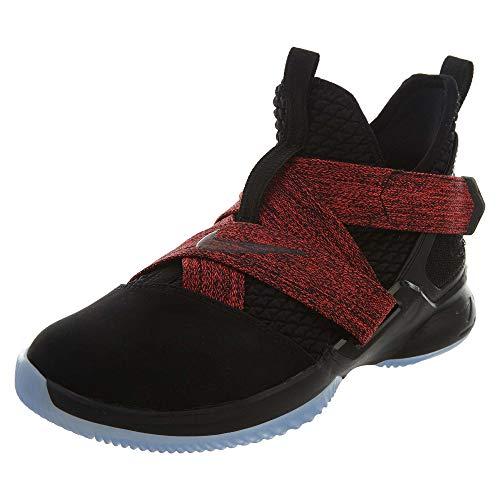 Nike Kids Lebron Soldier XII Basketball Sneaker (GS) (Black/Black, 6 Big Kid)