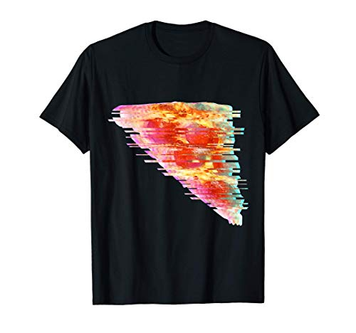 Vaporwave Pepperoni Pizza Glitch Art - Pizza Lover & Fan T-Shirt