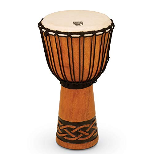 Toca TODJ-10CK Origins Series Rope Tuned Wood 10-Inch Djembe - Celtic Knot Finish