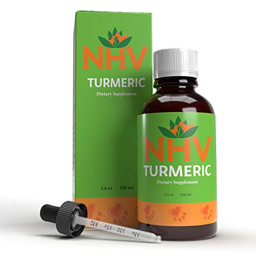 NHV Turmeric  All Natural Supplement for Cats Dogs amp Small Pets | Natural Support for Overall Comfort and Vitality Supports Healthy Liver Function Support Cardiovascular Health