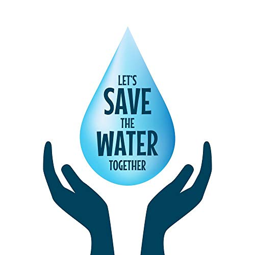 5 Acelets Save The Water in Water Drop Sticker Poster|Save Water|Save Environment