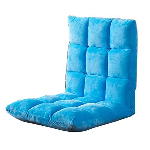 LJFYXZ Canapé Paresseux Chaise Réglage à 5 Vitesses Canapé Simple Lavable Fauteuil Pliant (Couleur : Bleu Clair)