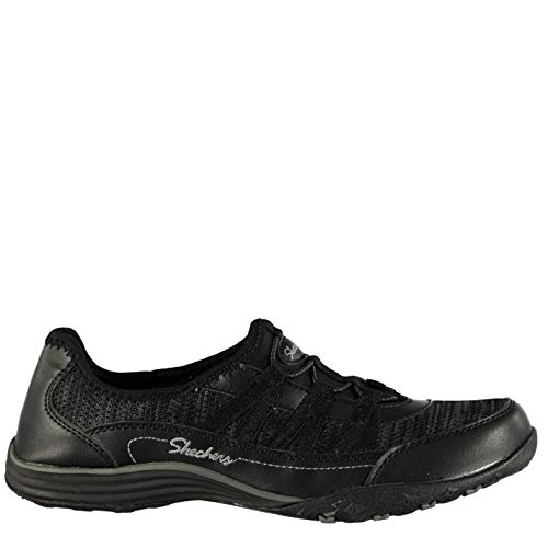 Skechers Mujer Fitster Zapatillas Sin Cordones Casuales Negro EUR 38.5
