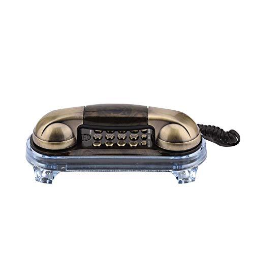 Elprico Teléfono con Cable, teléfono Fijo montado en la Pared Retro Antiguo...