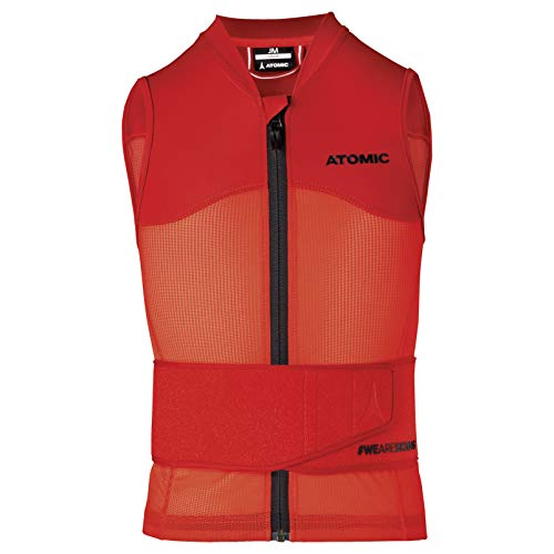ATOMIC Kinder Live Shield Vest Jr Ski-Protektor-Weste, red, S