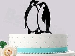Penguin Love Wedding Cake Topper