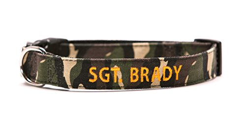 Go Go Cute Puppy- Apocalypse Growl Personalized Dog Collars - Custom Text with Pet Name and Phone Number - Multiple Thread Colors and Sizes